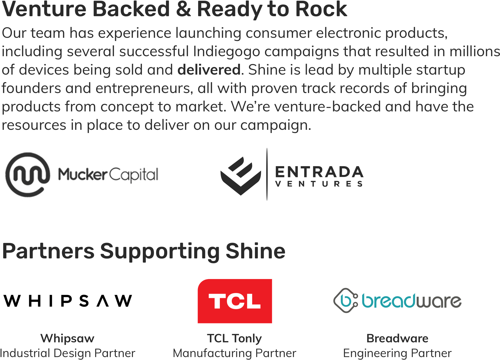Venture Backed by Mucker Capital and Entrada Ventures.